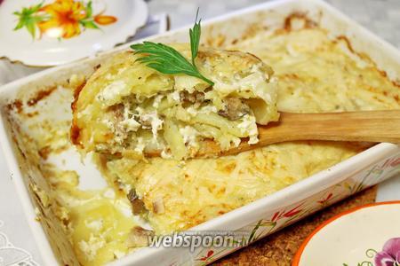 Гратен картофельный с рыбой