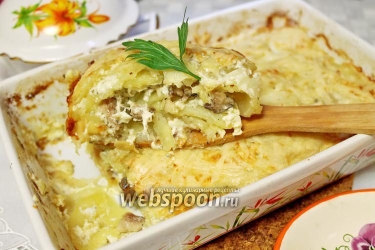Фото Гратен картофельный с рыбой