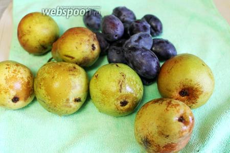 Подготовить плоды: промыть и дать стечь воде.