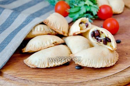 Пирожки из песочного теста с овощами