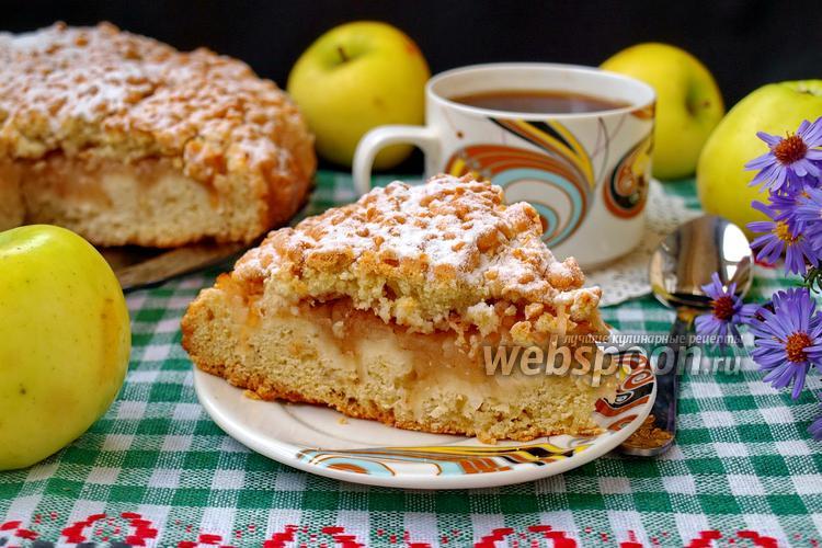 Фото Тёртый пирог с яблоками