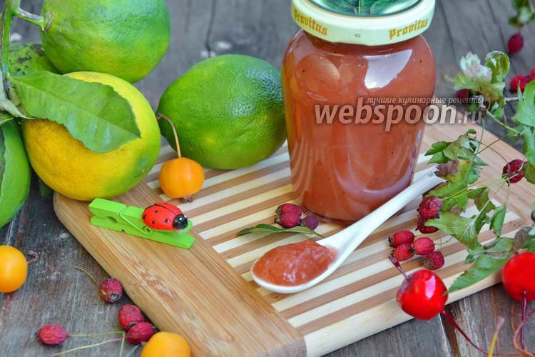 Рецепт Яблочный джем с боярышником