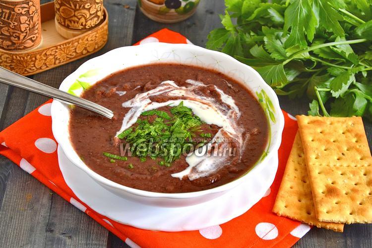 Рецепт Суп-пюре из красной фасоли