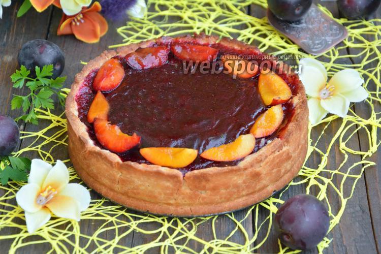 Рецепт Песочный пирог с красной алычой