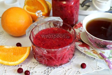 Живое варенье из апельсинов и клюквы