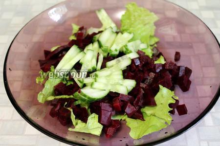 Добавить компоненты в салатник.