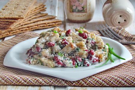 Салат из красной фасоли с сухариками