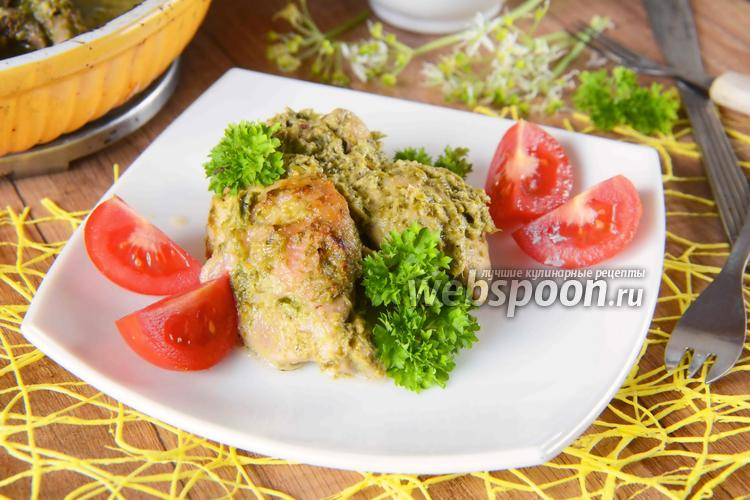 Рецепт Курица в кефире с черемшой