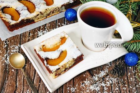 Мраморный пирог с персиками