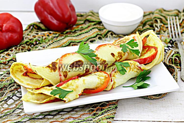 Рецепт Блины с болгарским перцем