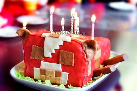 Торт «Корова» из Майнкрафт