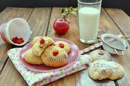 Печенье с вишней и белым шоколадом
