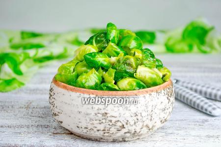 Брюссельская капуста с чесноком и сыром