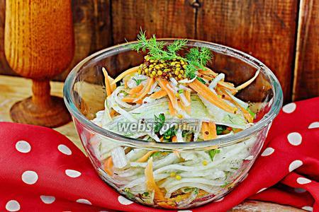 Салат с белой редькой