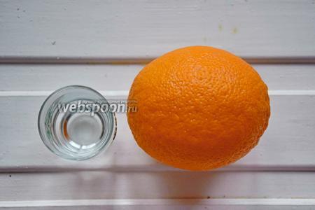 Ингредиенты: вода, водка, апельсиновые корки.