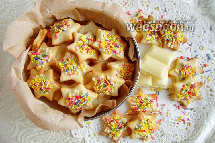 Фото Печенье с конфетти и шоколадом