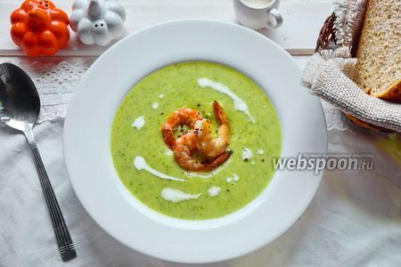Суп пюре из зелёного горошка и брокколи