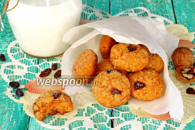 Фото Морковно-овсяное печенье
