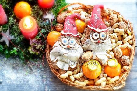 Лебкухен Санта-Клаус с ореховой начинкой