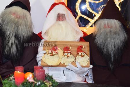 Вот так выглядят наши местные Самахлоос и Шмутцли с Лебкухен Санта-Клаус.