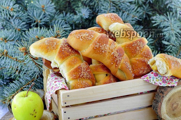 Фото Рогалики с яблоками