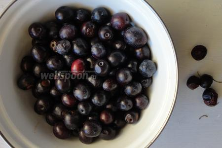 Оливки перебираем, выбираем спелые плоды без повреждений. Затем оливки помоем в холодной воде и обсушим.