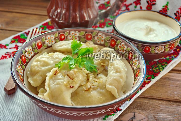 Рецепт Украинские вареники с капустой и яйцом
