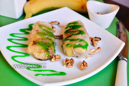 Спринг-роллы с бананами и грецкими орехами