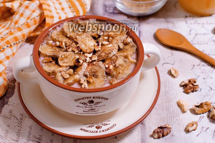 Рецепт Овсяная каша, запечённая с йогуртом и бананом