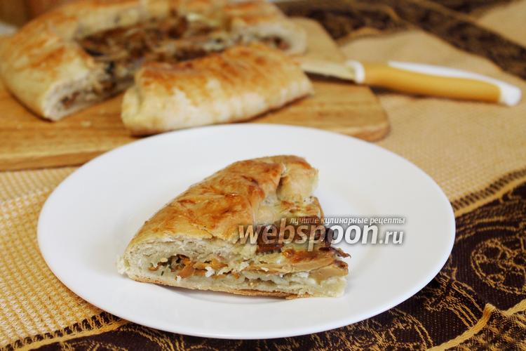 Пирог с лисичками рецепт с фото пошагово