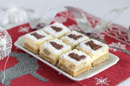 Творожно-марципановые пирожные