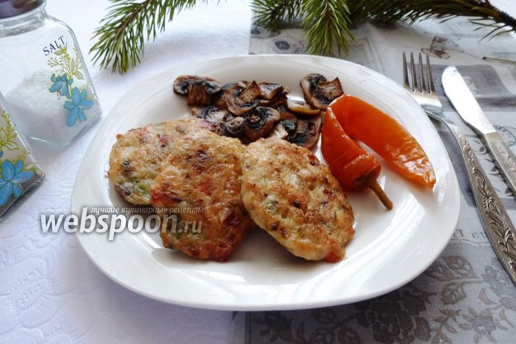 Рецепт Рубленные куриные котлеты со сладким перцем