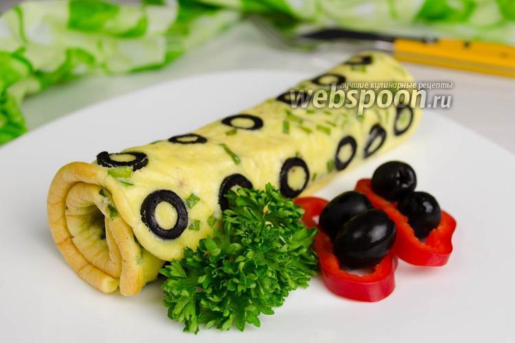 Рецепт Омлет с маслинами в духовке