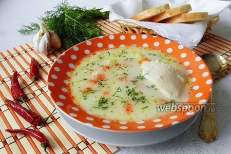 Куриный суп с плавленым сыром