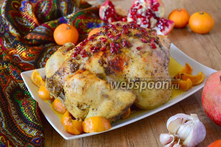 Рецепт Пряная жареная курица с гранатом