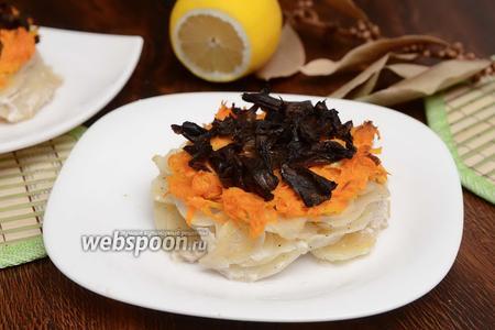 Медальоны из картофеля, моркови и грибов