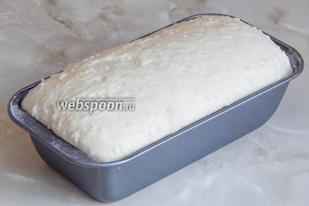 После 30 минут расстойки в тепле, пока грелась духовка, заготовка очень хорошо вырастет.