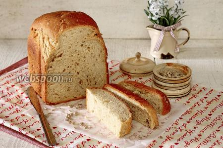 Пшеничный хлеб на тёмном пиве в хлебопечке
