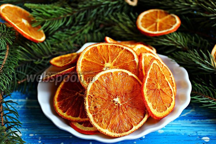 Рецепт Апельсиновые чипсы с имбирём