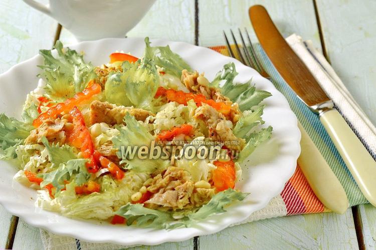 Рецепт Салат из пекинской капусты с тунцом и сладким перцем