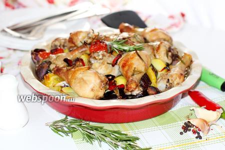 Курица в чесночно-розмариновом маринаде