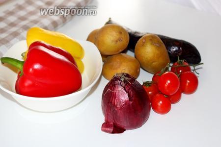 В качестве гарнира я подготовила овощи. Овощи можно взять любые которые вы любите!!! Отлично подойдёт и тыква, и морковь, и корень сельдерея... На ваш вкус...