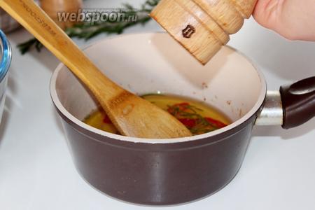 Добавить в остывший маринад соль, перец и лимонный сок и хорошо перемешать.