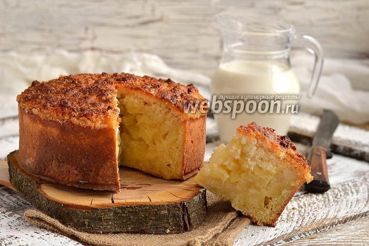 Рецепт Ананасовый пирог с кокосовой шапочкой