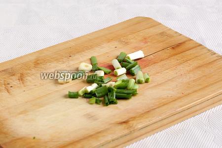 Чеснок и лук небрежно нарезать для измельчения в блендере.