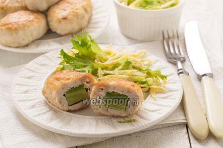 Куриные зразы с авокадо