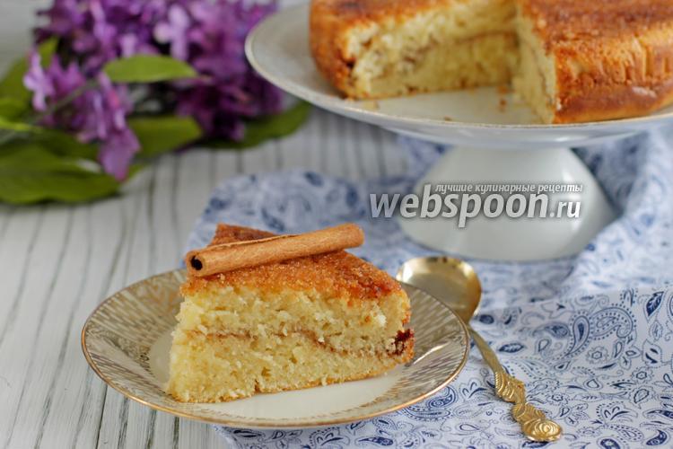 Фото Коричный пирог с корочкой
