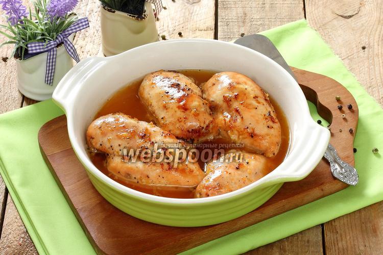 Рецепт Медово-лимонные куриные грудки