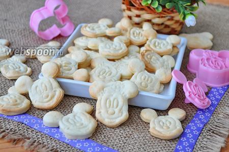 Постное песочное печенье на растительных сливках