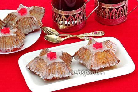 Пирожные с кокосом и цукатами